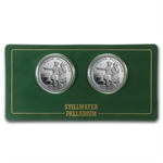 1/2 oz Johnson Matthey Palladium Lewis & Clark (2-Round Set)
