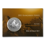 2011 1 oz Australian Silver Kangaroo (In Display Card)