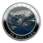 2003 Canada 1 oz Silver $20 Natural Wonders (Rocky Mountains)