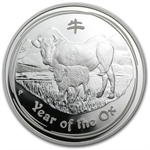 2009 Year of the Ox - 1 oz Proof Silver Coin (SII) w/Box & CoA