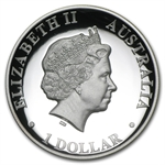 2010 1 oz Australian High Relief Proof Silver Kangaroo