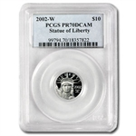 2002-W 1/10 oz Proof Platinum American Eagle PR-70 PCGS