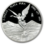 2002 2 oz Proof Silver Mexican Libertad