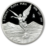 1996 2 oz Silver Libertad - Proof
