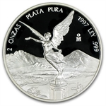 1997 2 oz Silver Mexican Libertad - Proof (In Capsule)
