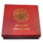 Lunar Series I (10oz Silver) Red Presentation Box