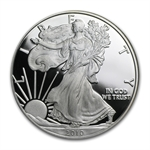 2010-W 1 oz Proof American Silver Eagle (w/Box & CoA)