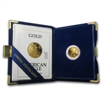 1992-P 1/10 oz Proof Gold American Eagle (w/Box & CoA)
