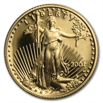 2001-W 1/10 oz Proof Gold American Eagle (w/Box & CoA)