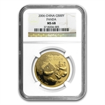 2006 1 oz Gold Chinese Panda MS-68 NGC