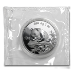 1999 1 oz Silver Chinese Panda - (Sealed) - Large Date Plain 1
