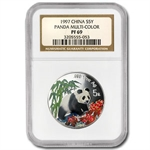 1997 Silver Chinese Pandas 1/2 oz - (Colorized) PF-69 NGC