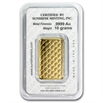 10 gram Sunshine Minting Gold Bar (In Assay/Tamper-Evident Pkg)