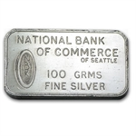 100 gram Johnson Matthey Bar - London (3.215 oz) .999 Fine