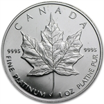 1989 1 oz Proof Canadian Platinum Maple Leaf