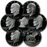 1971-1976 Eisenhower Dollar 40% Silver - Proof