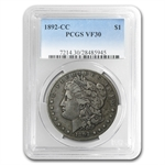 1892-CC Morgan Dollar Very Fine-30 PCGS
