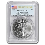 2011 Silver American Eagle - MS-70 PCGS - First Strike