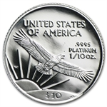 1/10 oz Proof Platinum American Eagle - Random Year (w/Box & CoA)