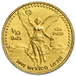 1992 1/10 oz Gold Mexican Libertad (Brilliant Uncirculated)
