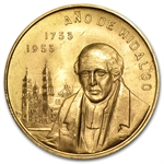 Mexico 1953 Gold 200th Anniversary - Birth of Hidalgo .4822 AGW