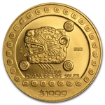 Mexico 1992 1000 Pesos Gold Uncirculated Jaguar