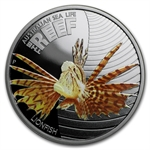 2009 1/2 oz Proof Silver Lionfish - Sea Life I Series
