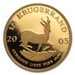 2005 1/2 oz Proof Gold South Africa Krugerrand