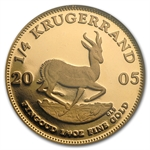 2005 1/4 oz Proof Gold South Africa Krugerrand