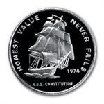1/2 oz Constitution Mint Silver Round (U.S.S. Ship) .999 Fine