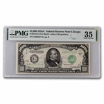 1934-A (G-Chicago) $1,000 FRN (PMG Choice Very Fine 35)