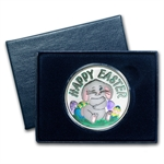 1 oz Happy Easter Enameled Silver Round (w/Box & Capsule)