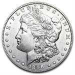 1896-S Morgan Dollar - Almost Uncirculated