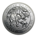 2007 1 oz Silver Somalian Elephant - Brilliant Uncirculated