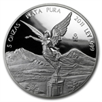 2011 5 oz Silver Mexican Libertad - Proof (In Capsule)