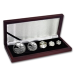 2011 1.9 oz Silver Libertad 5 Coin Set .999 - Proof (In Wood Box)
