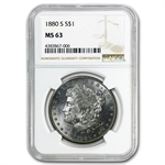 1878-1904 Morgan Dollars - MS-63 NGC - 20 Different Coins