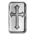 1 gram Cross Silver Bar .999 Fine