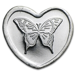 1/10 oz Silver Heart - Butterfly (.999 Fine)