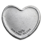 1/10 oz Silver Heart - Dove and Hearts (.999 Fine)