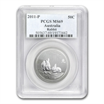 2011 Year of the Rabbit -1/2 oz Silver Coin (SII) MS-69 PCGS