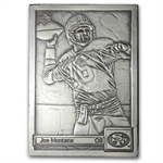 4.25 oz Silver Bar - Joe Montana - .999 Fine