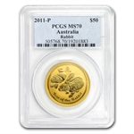 2011 1/2 oz Gold Lunar Year of the Rabbit (Series II) MS-70 PCGS