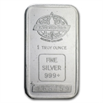 1 oz Engelhard Silver Bar (Tall, Maple / Smooth w/ Border)