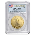 2011 1 oz Gold American Eagle MS-70 PCGS (First Strike)
