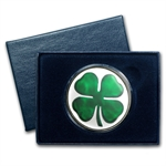 1 oz Four-Leaf Clover Enameled Silver Round (w/Box & Capsule)