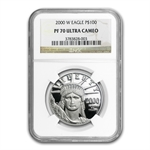 2000-W 4-Coin Platinum American Eagle PF-70 NGC Registry Set