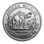 2006 1 oz Silver Somalian Elephant - Brilliant Uncirculated