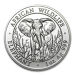 2004 1 oz Silver Somalian Elephant - Brilliant Uncirculated