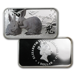 2011 1 oz Proof Silver Rectangle Year of the Rabbit 4 Coin Set